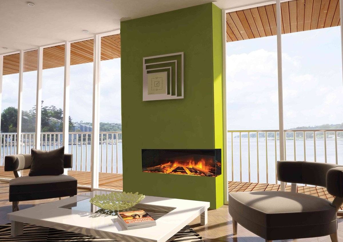 Evonic 2 sided electric fire